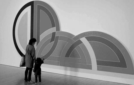 פרנק סטלה, Ctesiphon I, 1968, פולימר וצבע פולימרי על בד, 304X609, מוזיאון לאמנות עכשווית, לוס אנג'לס