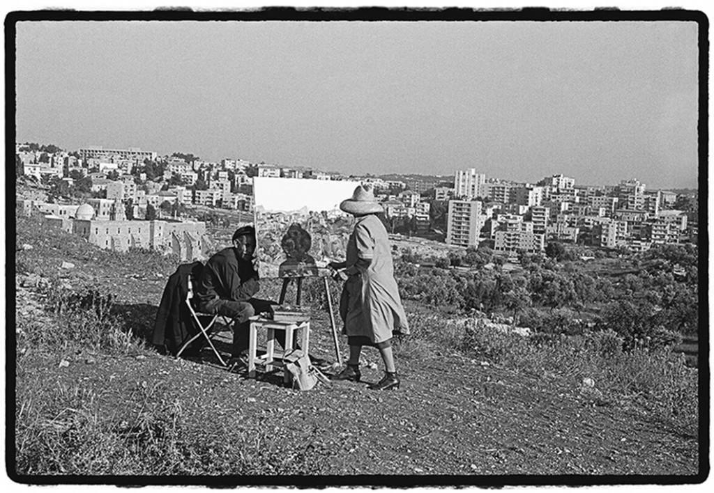 עליזה אורבך, נוף ירושלמי (עמק המצלבה), 1972